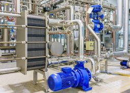 Installation de pompage et transfert thermique - échangeur à plaques et joints et pompe centrifuge